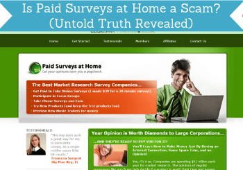 is paid surveys at home a scam review header