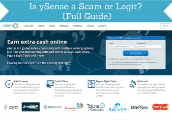 is ysense a scam review header