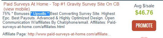 paid surveys at home affiliate info