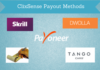 clixsense payout methods