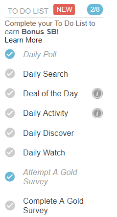 swagbucks daily checklist