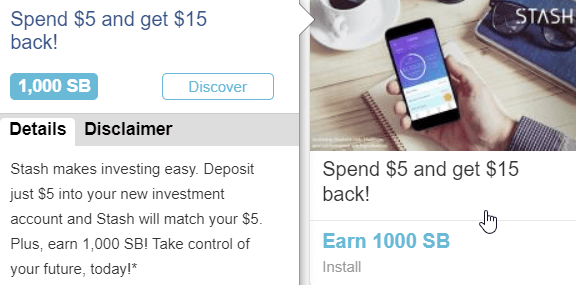 swagbucks offer example