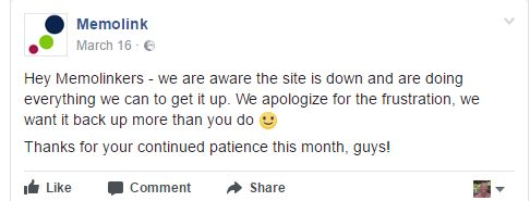 memolink facebook statement