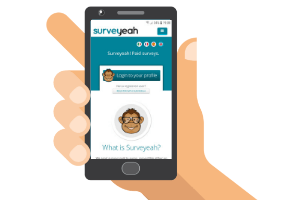 mobile with surveyeah website