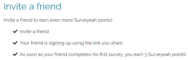 surveyeah referral program details