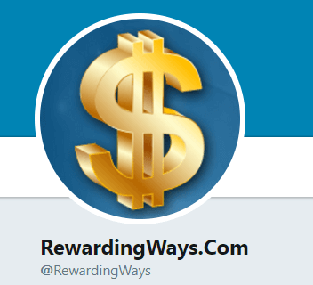rewarding ways twitter account