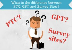 difference between gpt ptc and survey sites