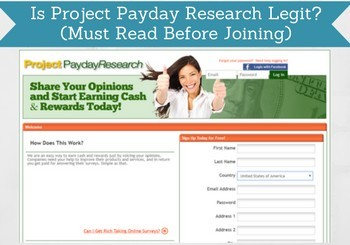 is project payday research legit