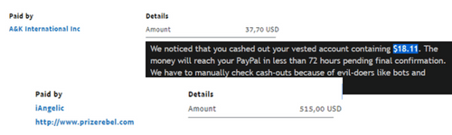 online surveys payment proof