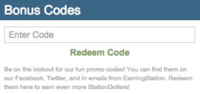 earning station bonus code example