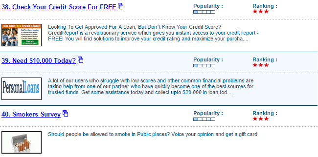 examples of surveymonster offers