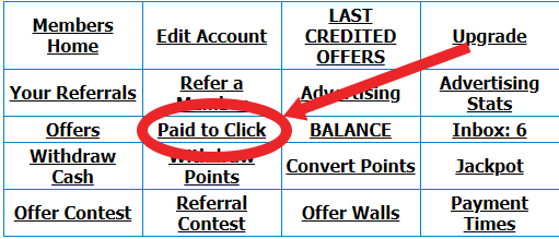 where to find paid to click option
