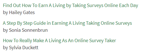 make a living taking surveys articles