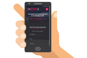mobile with cointiply website