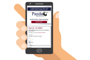 mobile with panda research website