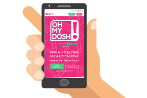 mobile with ohmydosh website