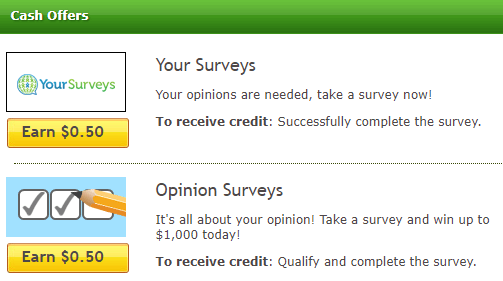 cash offers on surveysemail