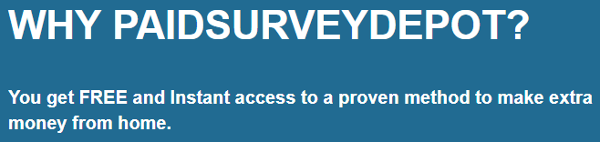 paid survey depot landing page