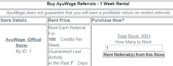 rent referral on ayuwage