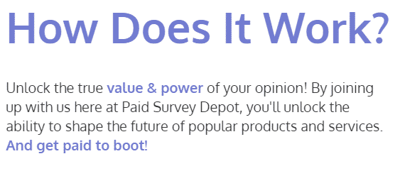 what paid survey depot offers