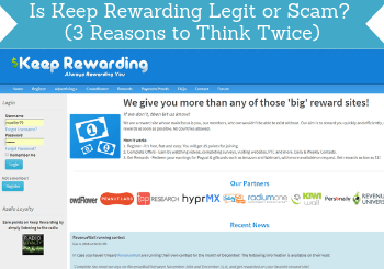 is keep rewarding legit review header
