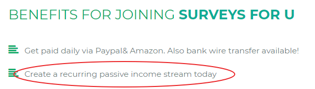 passive income claim on surveysforu