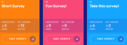 survey time survey examples