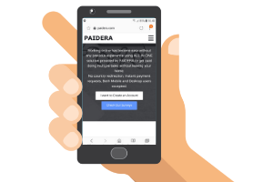 mobile with paidera website