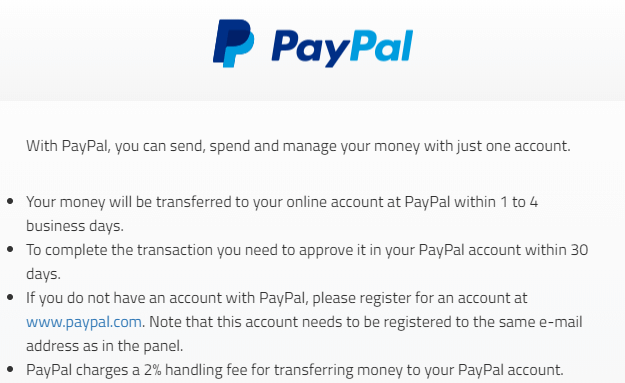panelchamp paypal conditions