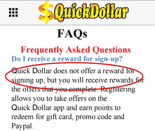 quick dollar app joining bonus info