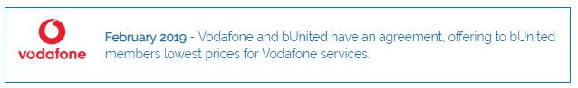 bunited vodafone agreement