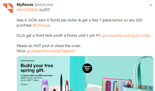mypoints points perk example