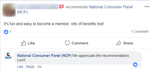 national consumer panel support answer