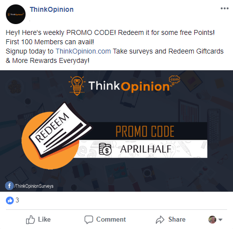 thinkopinion promo code example