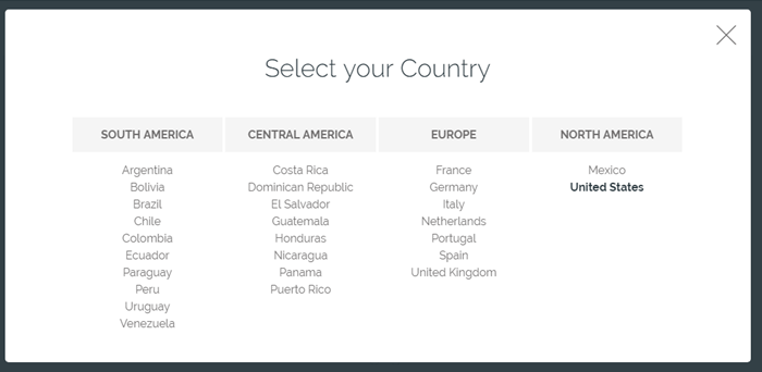 countries where nicequest is available