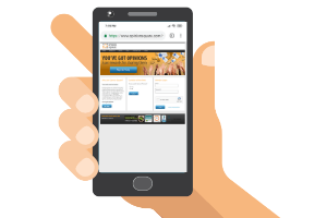 mobile with opinionsquare website