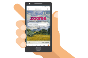 mobile with zaoree website