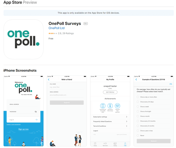 onepoll mobile app