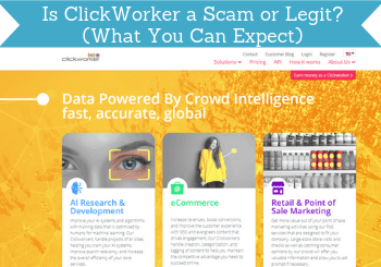 is clickworker a scam header