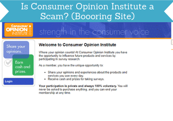 is consumer opinion institute a scam header