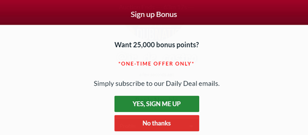 mypointsaver sign up bonus