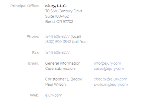 ejury contact us page