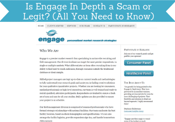 is engage in depth a scam header