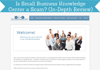 is small business knowledge center a scam header