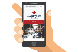 maru voice canada mobile site