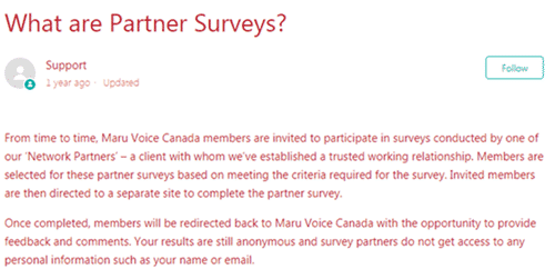 maru voice canada partner surveys