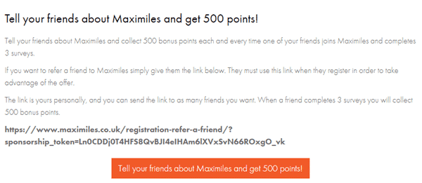 maximiles referral program