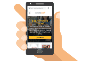 rewardbee mobile site