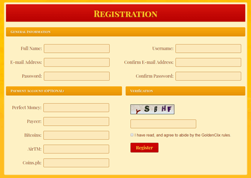 goldenclix registration