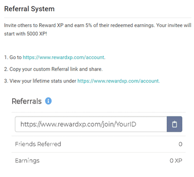 reward xp referral program